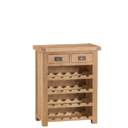 Oslo Oak Small Wine Rack